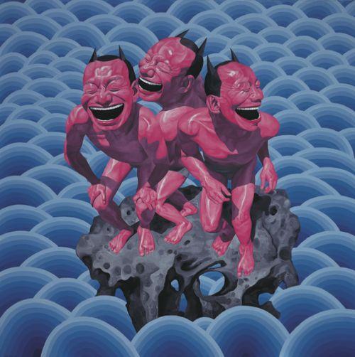 Réalisme Cynique : L'ombre du fou rire - Exposition . Fondation Cartier pour l'art contemporain - 2013  -  Yue Minjun