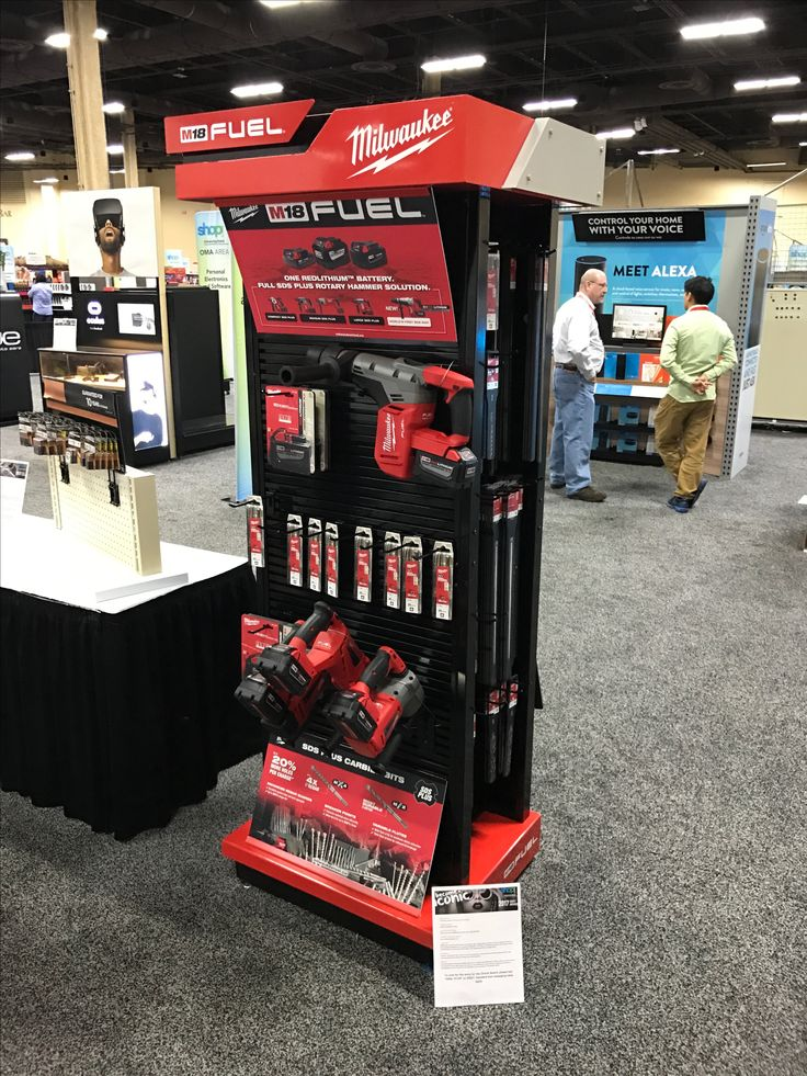 Milwaukee Tool Free Standing Unit - Looking to get noticed with your point of sale display in a busy, fast-paced retail environment? Increase confidence in your sales with www.popthis.com.au