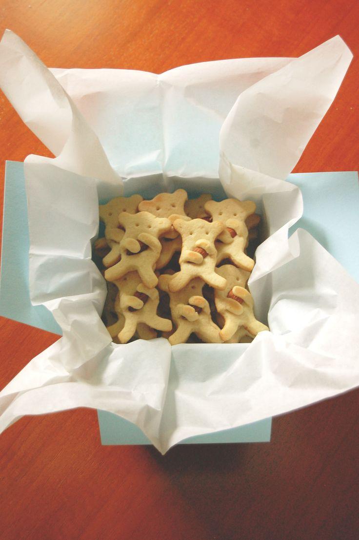 galletitas de oso con almendras, idea desde pinterest.