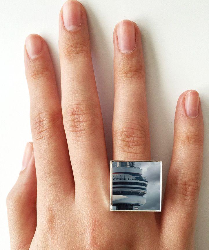 Drake - Views - Album Cover Art Adjustable Ring