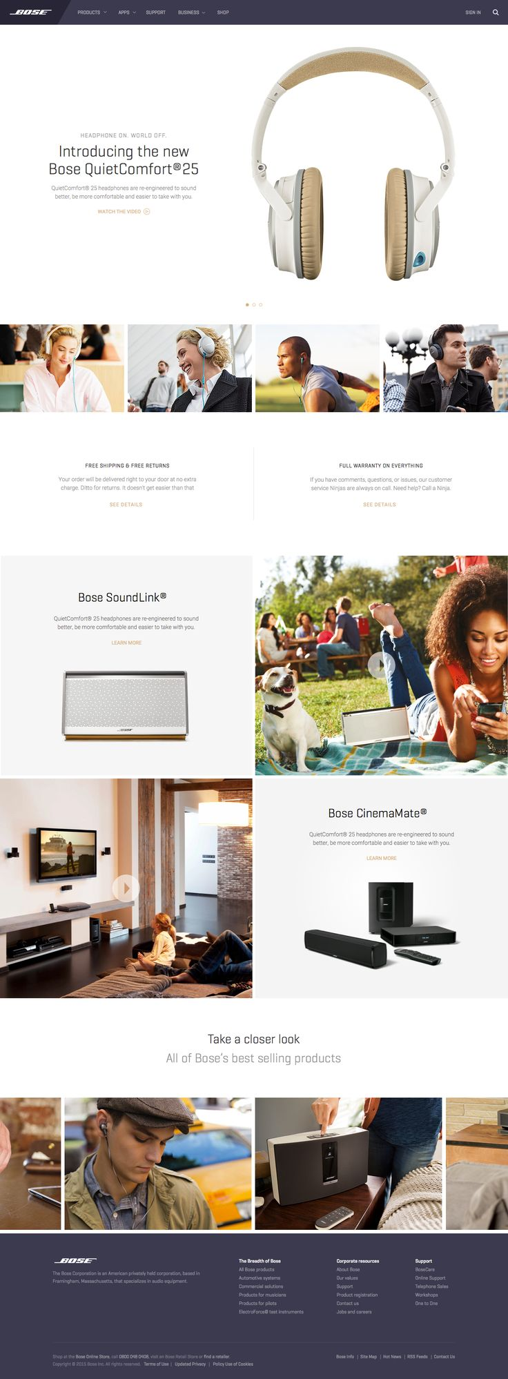 Dribbble - Bose-Homepage.png by Aaron Sananes