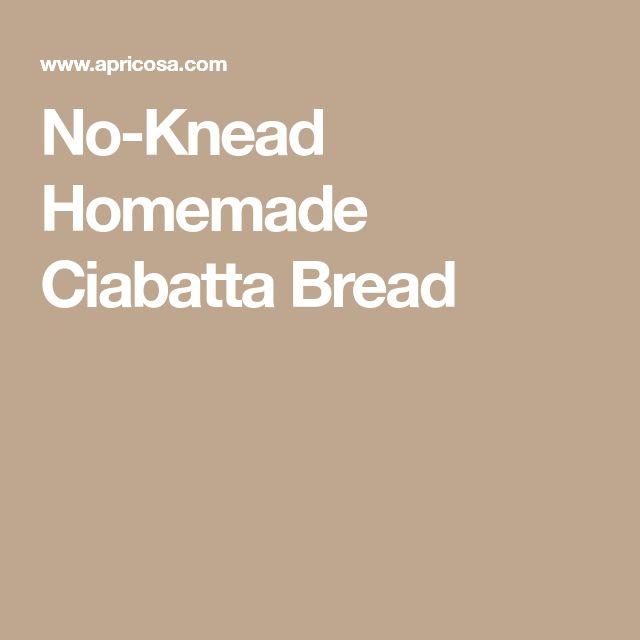 No-Knead Homemade Ciabatta Bread