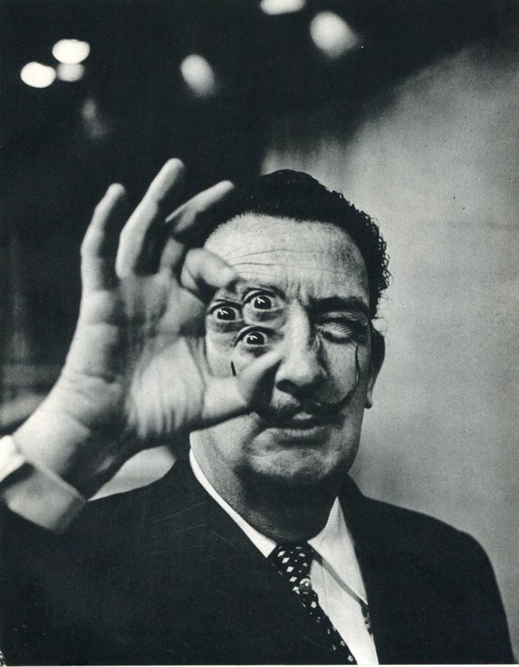 """Surrealism is not a movement. It is a latent state of mind perceivable through the powers of dream and nightmare."" ― Salvador Dalí  // photo - Dali by Phillipe Halsman"