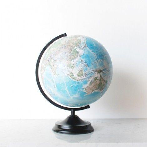Telegram World Globe - Metal Base with D-Ring Frame