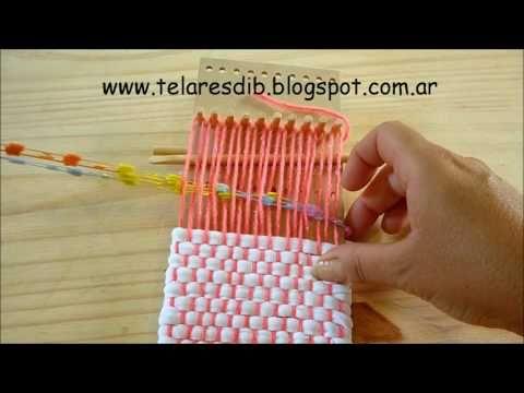 como tejer con el telar bolsito d.i.b - YouTube