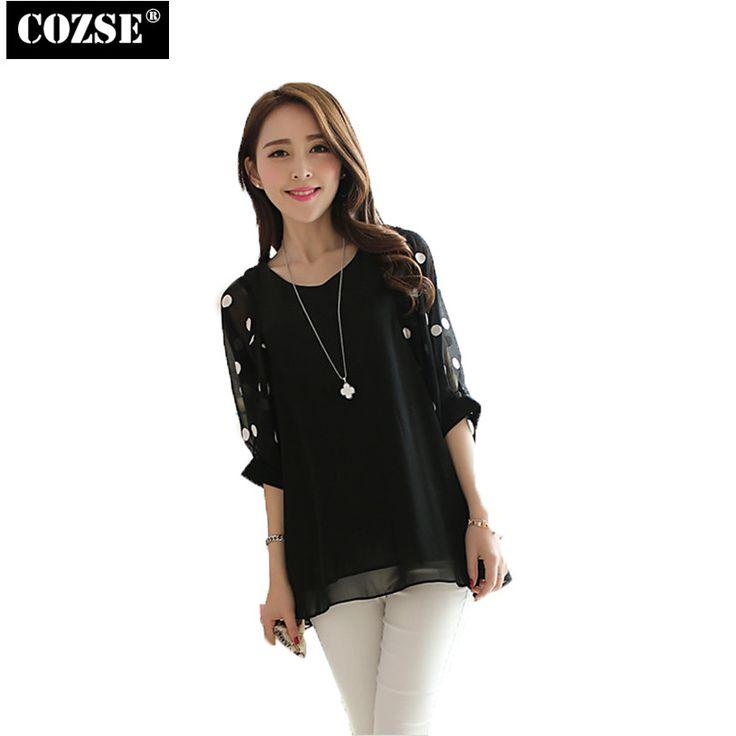 >> Click to Buy << 2015 Fashion Chiffon Tops Tees Blusas Polka Dot Batwing Sleeve Casual Loose Shirts Top Clothing Women Free Shipping  H2159 #Affiliate