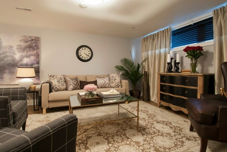 Elegant Basement Living Room Income Property Hgtv