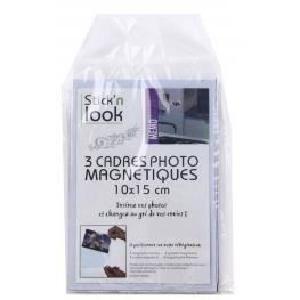 CADRE PHOTO Cadres photos magnétiques 10 x 15 cm - Lot de 3...