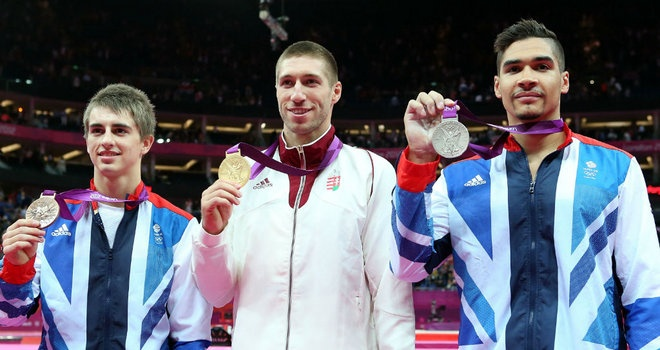 Gymnastics: Team GB's Lous Smith (Silver) and Max Whitlock (Bronze) take medals for Pommel Horse!