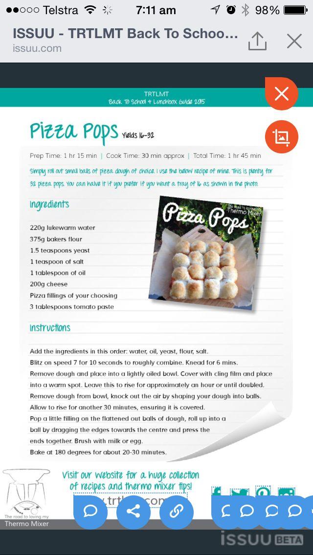 Pizza pops
