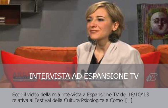 Intervista a Espansione TV sul Festival della Cultura Psicologica