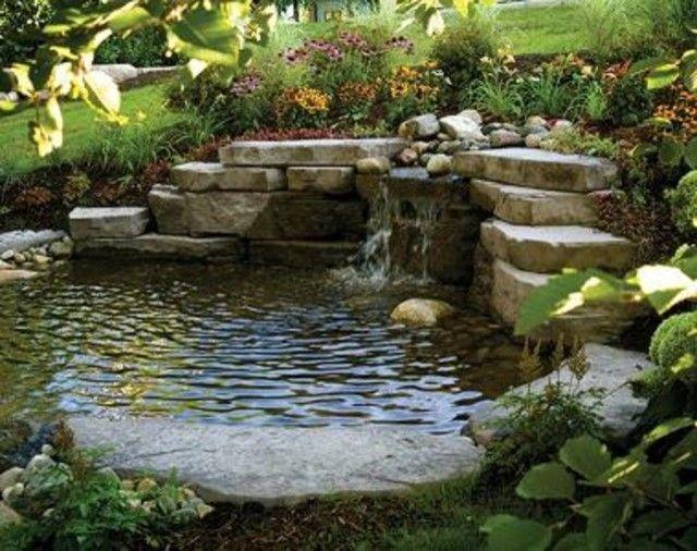 Pond retaining wall