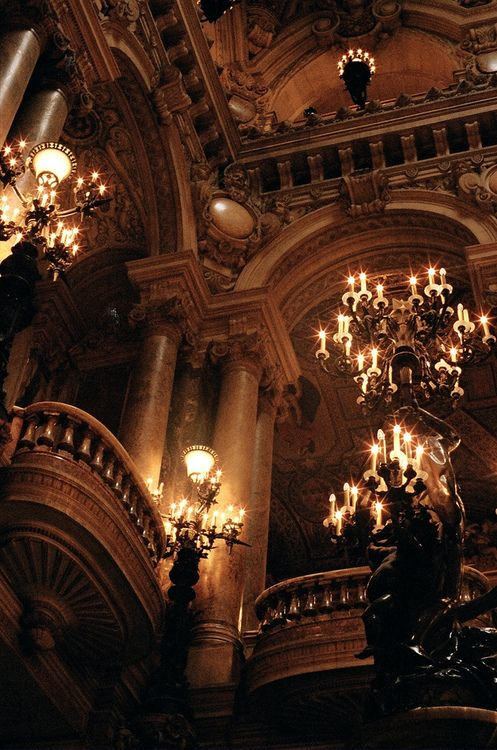 Opera House, Paris, France....The Phantom of the Opera is there....Inside your head!