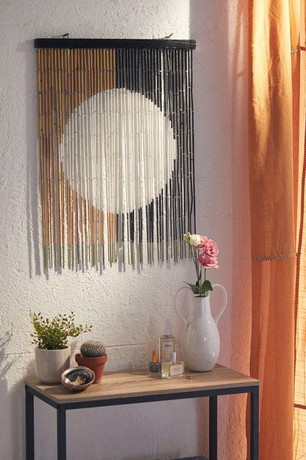 Neha Bamboo Beaded Wall Hanging Bamboo Wall Decor Wall Mirror Decor Living Room Decor