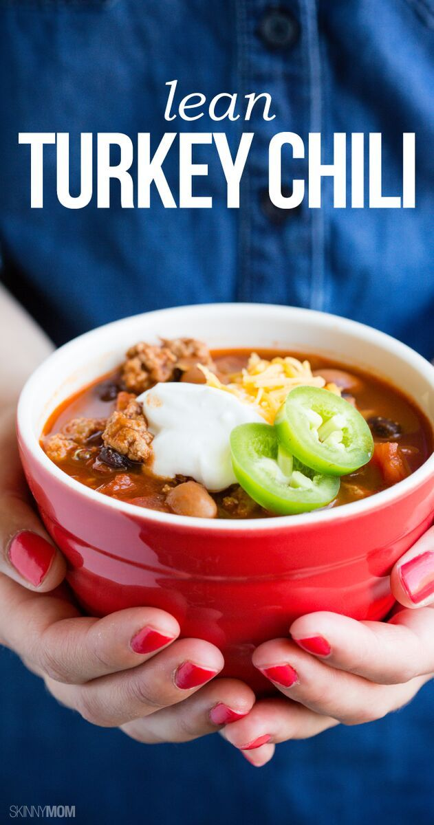 Serving up a bowl of our Lean Turkey Chili will become a Sunday tradition as soon as your family gets a whiff of the warm, hearty aroma — not to mention a taste! And at 240 calories per cup of chili, you won't even feel bad going back for seconds!