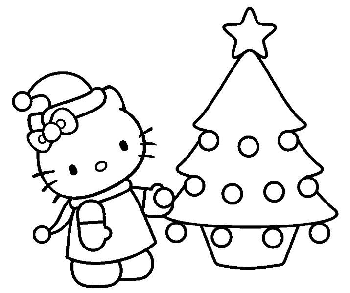 Coloriage Hello Kitty Noel Hello Kitty Colouring Pages Hello Kitty Coloring Hello Kitty Christmas