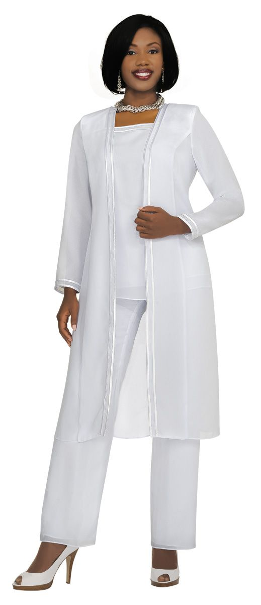 Misty Lane Style 13062 White Pants Suit Pinterest Dresses