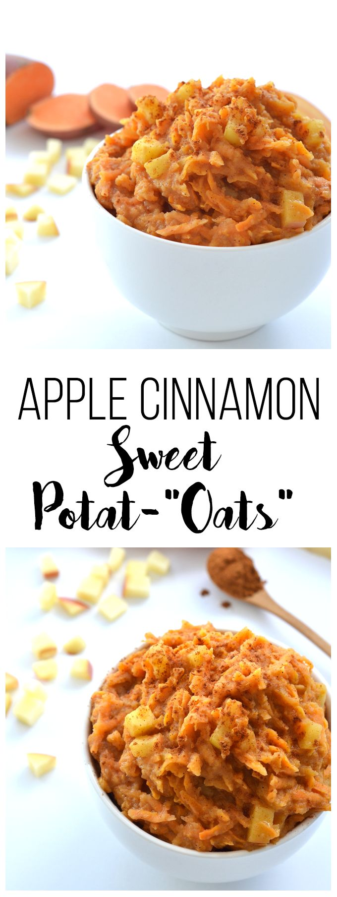 """These Apple Cinnamon Sweet Potat-""""oats"""" are the perfect Paleo & Whole30 breakfast option or oat alternative!"""
