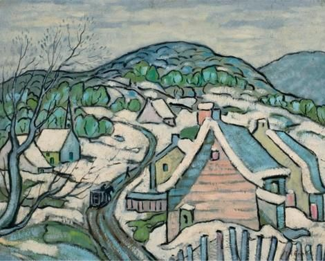 Marc-Aurèle Fortin, Laurentides in the Winter on ArtStack #marc-aurele-fortin #art