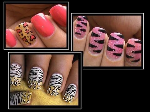 937 best video tutorials learn to create nail art images on 3 animal print nail designs nail art designs how to nails polish design art cute prinsesfo Gallery