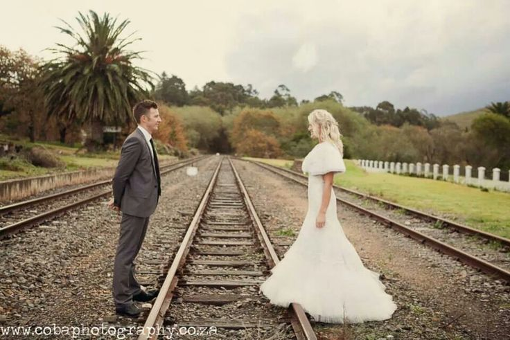 Train track... representing Grace and truth becoming one... you need both for the train to move forward. We need the two of us to keep this marriage going... that involves God... always!