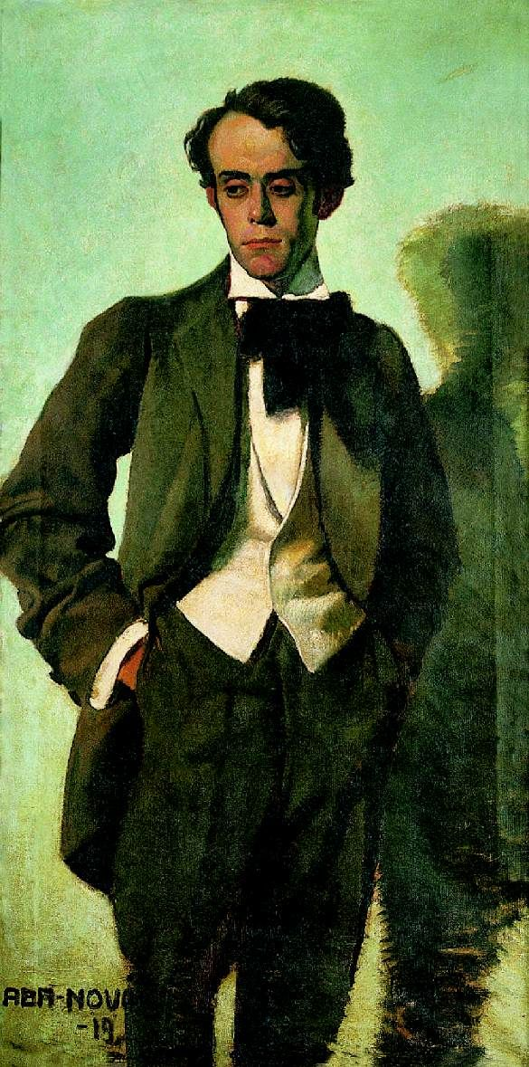 Portrait of Tibor Idrányi, 1919 by Vilmos Aba-Novák (Hungarian 1894-1941)....Idranyi (1896-1948) was a fellow Hungarian artist who produced mainly landscapes and figure studies.....