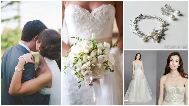 white bridal inspiration/white wedding theme jewelry www.novia-blanca.pl biżuteria ślubna www.novia-blanca.pl