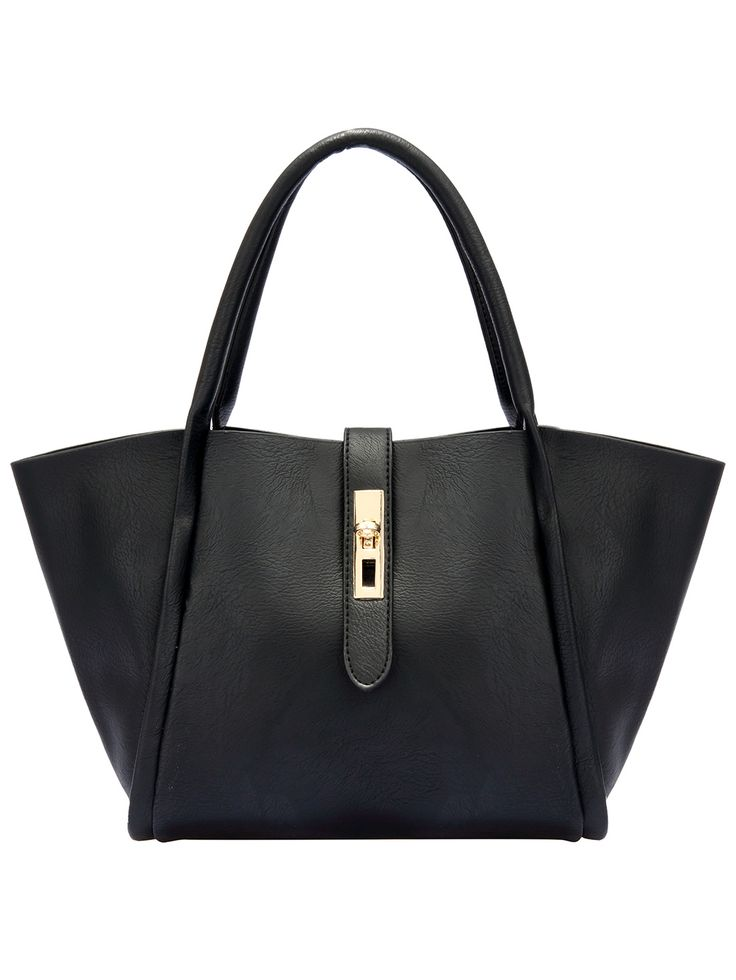Shop Black Metal Buckle PU Tote Bag online. SheIn offers Black Metal Buckle PU Tote Bag & more to fit your fashionable needs.