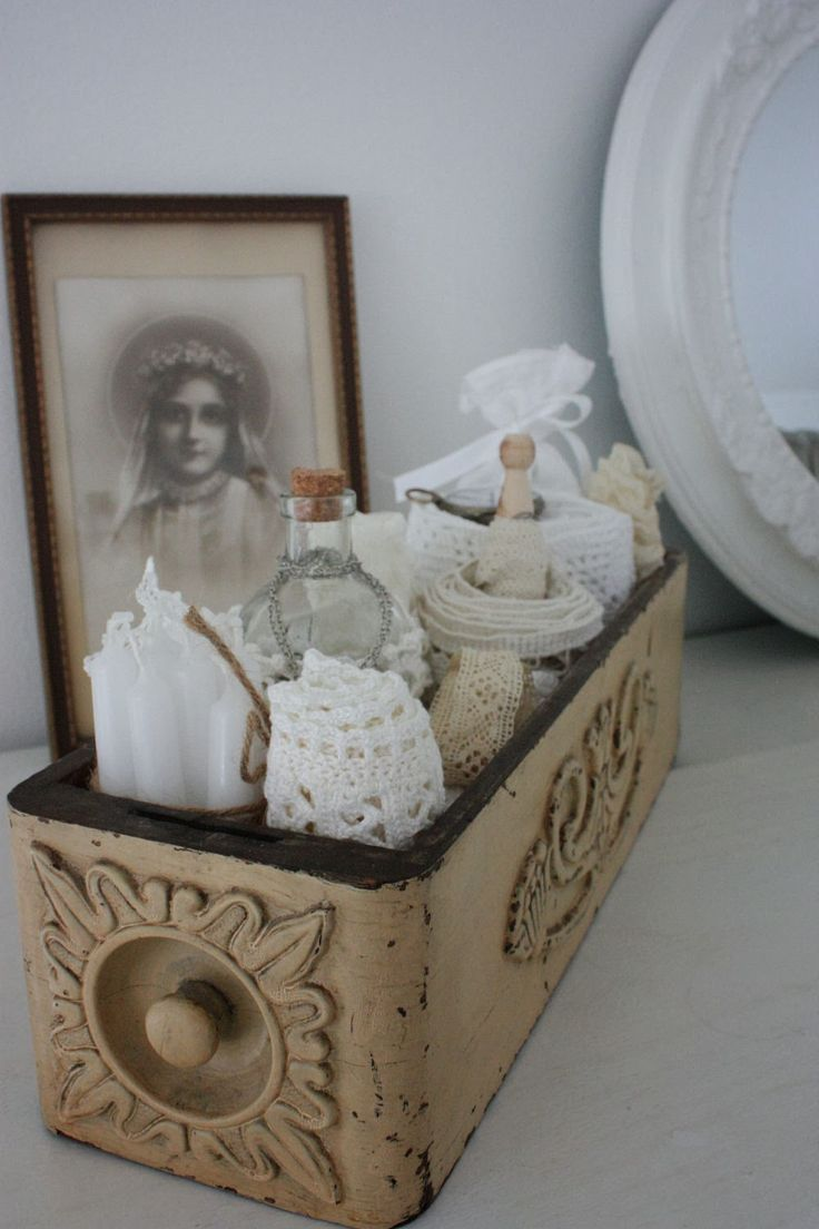 .Sewing machine drawer... bathroom items, bedroom dresser, desk.