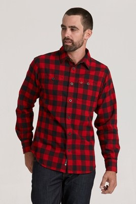 1913 Check Shirt - Red #barkers #swanndri