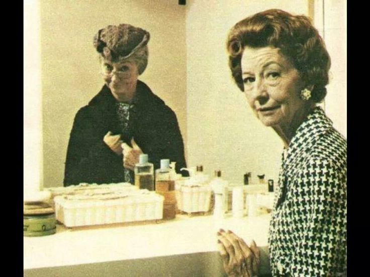 Irene Ryan as Granny before and after makeup.