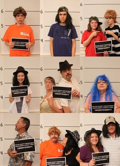 mug shot photo booth -  Week of (Forensic) Science - #TeenSRP13 #UniversityOfSwag