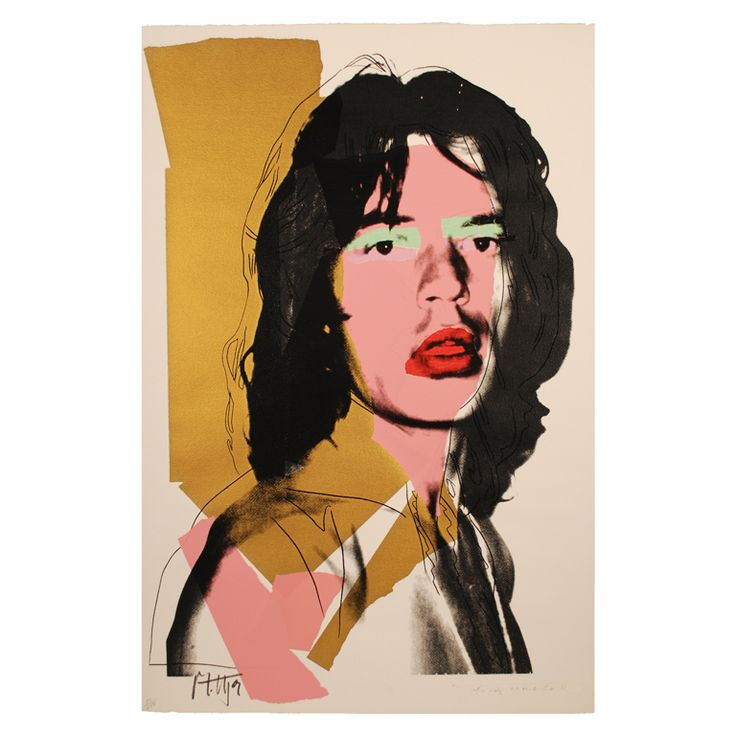 Mick Jagger by Andy Warhol, 1975. Courtesy of Griffin Trading. #1stdibs #Pop Art #Warhol