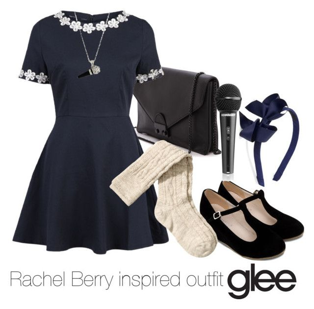 """""""Rachel Berry inspired outfit/Glee"""" by tvdsarahmichele ❤ liked on Polyvore featuring Loeffler Randall and H&M"""