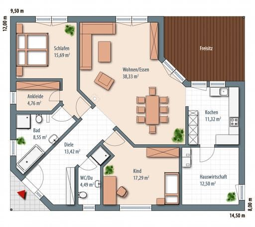 Cute Edition floor plans