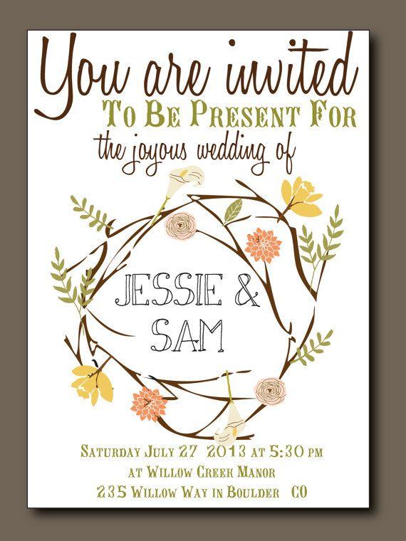 Bohemian Summer  Summer Wedding Invitation with by WrittenInDetail, $5.00
