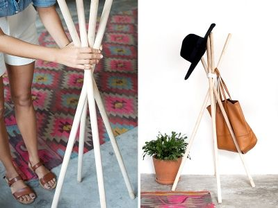 For those of you who consider home where you hang your hat, this quick and easy DIY might just be up your alley.