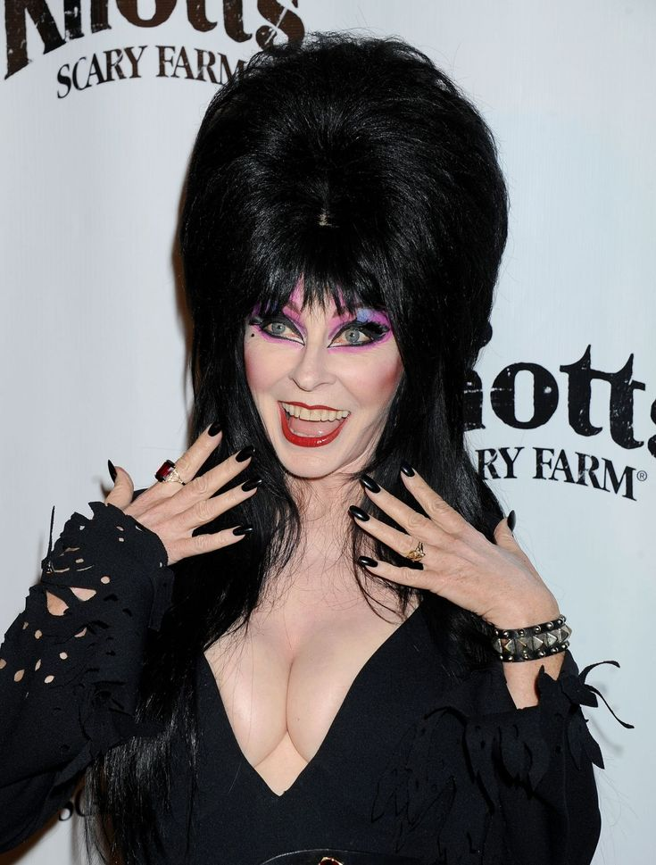 Actress Cassandra Peterson turns 63 today - she was born 9-17 in 1951. She's best known for her portrayal of the horror hostess character Elvira, Mistress of the Dark on 80s Fright Night TV (first seen on local TV in Los Angeles) - it was a re-boot of the role first played by 50s and 60s horror hostess Maila Nurmi who was the original Vampira (the one I grew up with on Friday Fright Night TV)