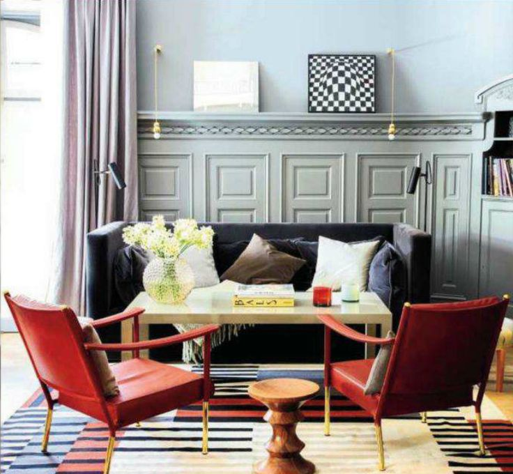 Red White Gray And Black Are Always A Good Choice Full House Blog Family Room DesignFamily