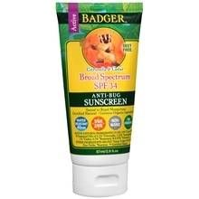 Badger Sunscreen Lotion Anti-Bug SPF 34 Citronella & Cedar at Walgreens. Get free shipping at $35 and view promotions and reviews for Badger Sunscreen Lotion Anti-Bug SPF 34 Citronella & Cedar