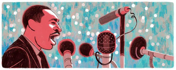 Día de Martin Luther King Jr. 2016 Doodleando, Los Logos de Google