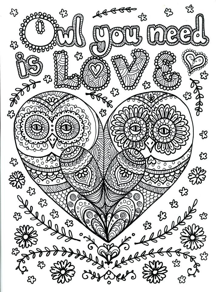 Advanced Coloring Pages Owls : Owl abstract doodle zentangle paisley coloring pages