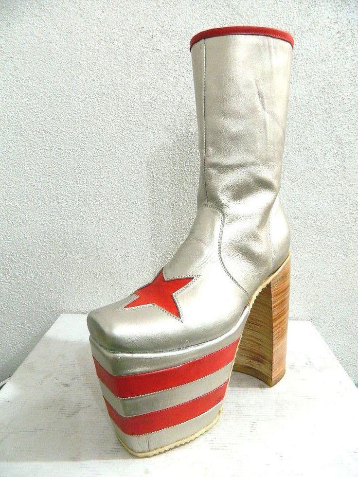 70s rocker rocker platform zipper boots 1 168 to 5