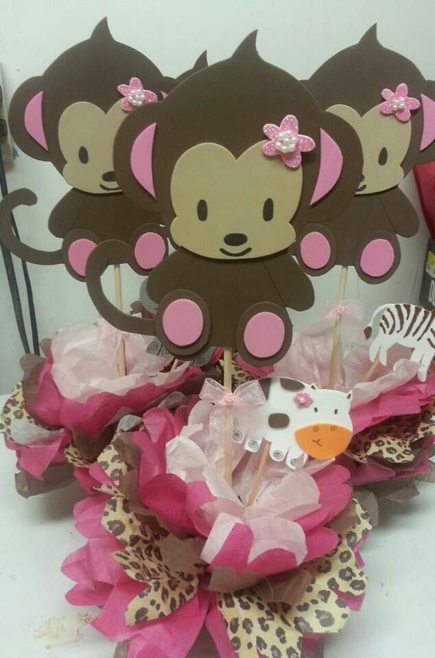 Best 25 Monkey Centerpiece Ideas On Pinterest Jungle Safari Baby Shower Monkey And Curious