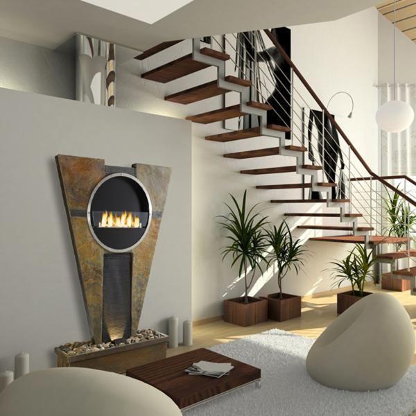 84 best Mon chauffage Design \ Déco images on Pinterest - steinwand wohnzimmer schwarz