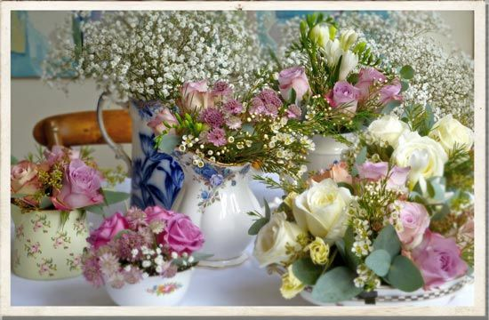 Antique Wedding Bouquets | vintage china, vintage wedding flowers, vintage bridal ideas