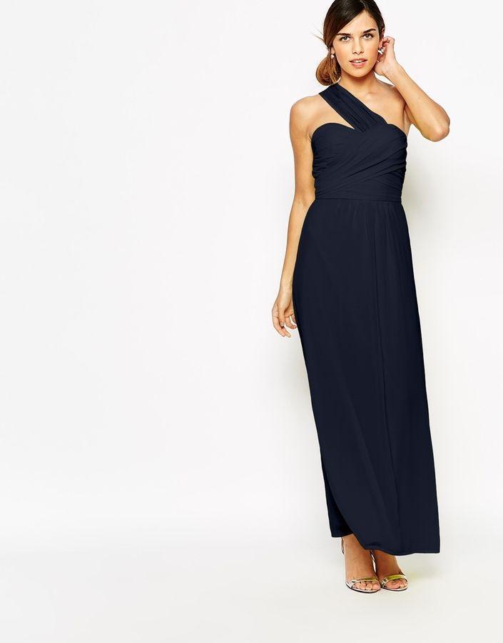 Shop Elise Ryan One Shoulder Waisted Maxi Dress at ASOS.