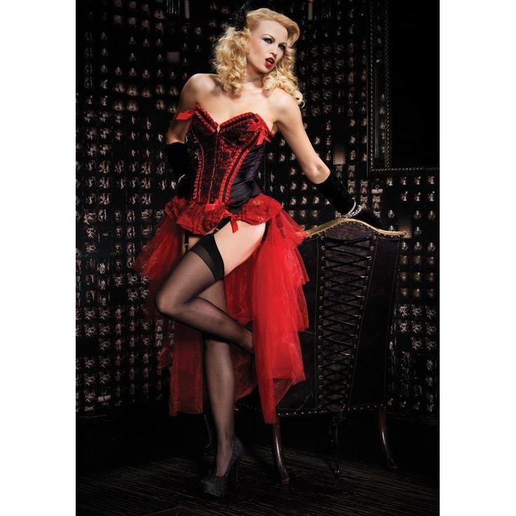 3pc Valentina Corset & Mesh Skirt