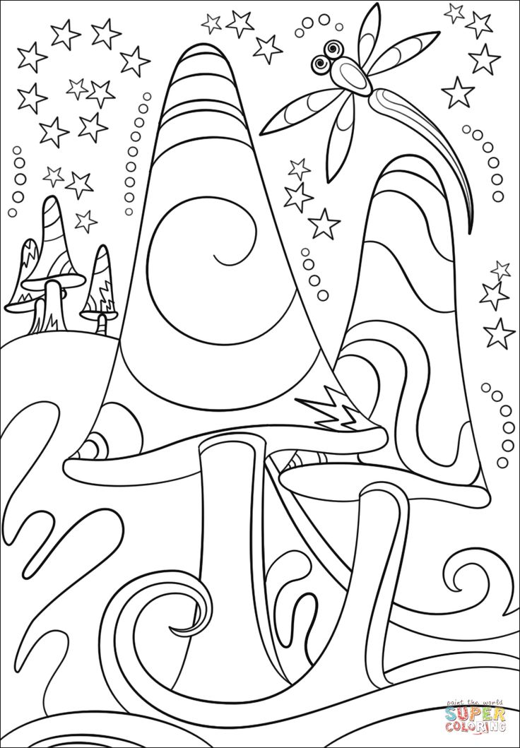 Pin on Coloring Pages Trippy