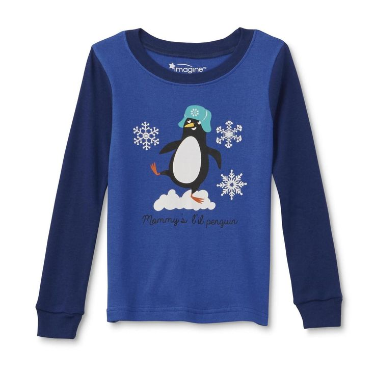 """Pajama Set Shirt Pants Boys' Long-Sleeve Winder Sleepware Fashion WonderKids  """"Mommy's L'il Penguin"""" is all set for bedtime in these infant and toddler boys' pajama shirt and pants from WonderKids. Crafted from soft and breathable cotton knit, ..."""